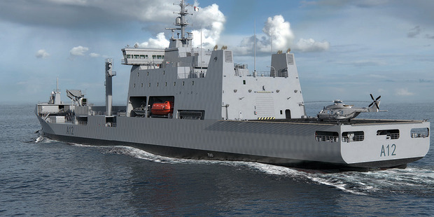 An indicative image of the new Navy tanker. Photo / Supplied
