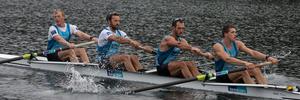 New Zealand Rowing Men's Coxless Four, (L-R) Anthony Allen, Patrick McInnes, Axel Dickinson and Drikus Conradie - during the media day at the Lake Karapiro. Photo / Brett Phibbs.