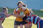 Te Puke's Ryan Lambert in action v Rotoiti on Saturday. Photo: Andrew Warner 160716aw27bop