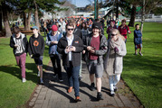 Thousands have joined organised Pokemon Go walks around the country as the smartphone game grips the nation. Photo / Andrew Warner