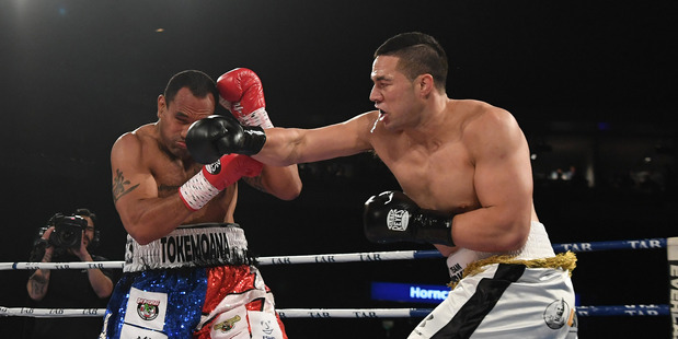 Sky TV cancelled the subscriptions of 10 people caught streaming the fight between New Zealand heavyweight boxer Joesph Parker and Australia's Solomon Haumono. Photo / Andrew Cornaga