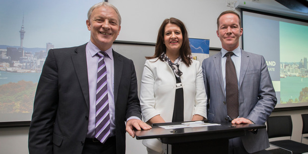 Auckland Mayoral candidates L-R Phil Goff, Victoria Crone and Mark Thomas. Photo / Supplied