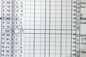 IT'S OFFICIAL: Luke Toomey's scorecard of his round of 58. PHOTO/SUPPLIED 170716sp22BOP