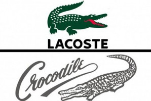 The logos of Lacoste and Crocodile International.
