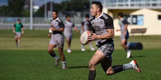 Loading Sonny Bill Williams puts his foot down at Blake Park as part of the All Black Sevens' Olympic preparation. Photo/George Novak