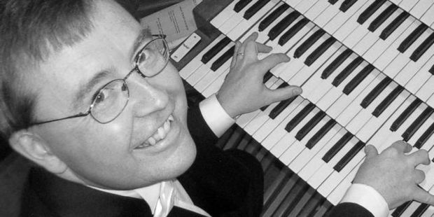 Organist Kemp English, who will be performing at Christ Church in August.