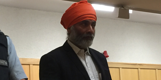 Manjit Singh awaits sentencing in the High Court in Hamilton on charges of wounding with intent to cause grievous bodily harm. Photo / Belinda Feek