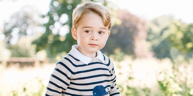 This official photo released by Kensington Palace is to mark the 3rd birthday of Prince George. Photo / Supplied