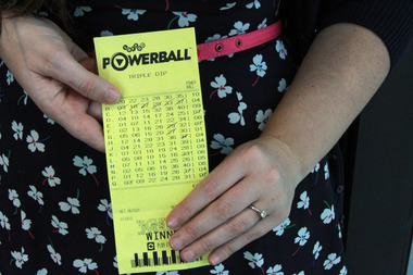 Photo of the winning ticket that Paul and Lucy won Lotto first division and $142,857 with, 24 hours after they became engaged and the night after their house nearly burned down. Photo / Supplied