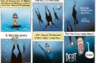 Cartoon: Kiwis freedive into debt