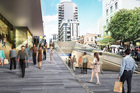 An artist's impression of the Auckland City Rail link from 'Aotea Station'.