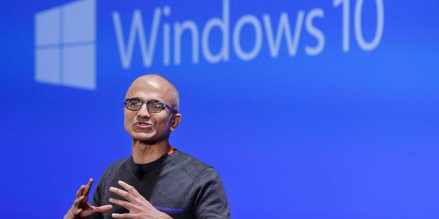 Microsoft CEO Satya Nadella said the past year had been pivotal in the company's transformation. Photo / AP