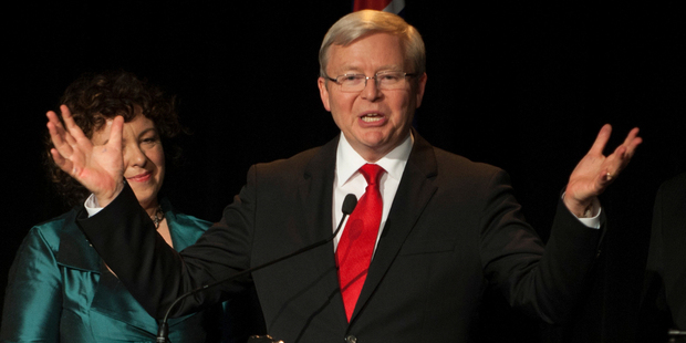 All politicians, like the rest of us, have have their faults although Rudd would seem to have more than most. Photo / Getty Images