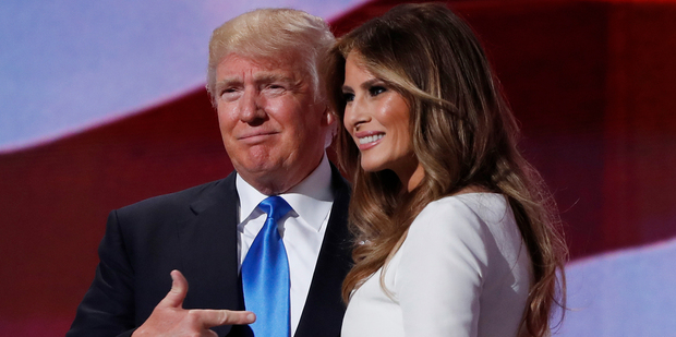 Melania Trump went on to explain Donald Trump is tough, but also kind, and caring, and that's why she fell in love with him at the Republican National Convention in Cleveland. Photo / AP