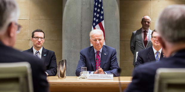 US Vice President Joe Biden meets with Australian Prime Minister Malcolm Turnbull and members of his cabinet in Sydney today. Photo / AP