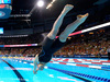 Katie Ledecky starts the women's 200-meter freestyle final at the U.S. Olympic swimming trials. Photo / AP