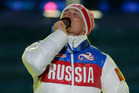Russia's gold medal winner Alexander Legkov for the men's 50-kilometer cross-country race at the 2014 Winter Olympics. Photo / AP