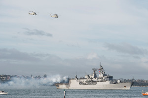 HMNZS Te Kaha is scheduled to take part in the 26-nation Rimpac exercises.  Photo / File
