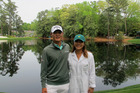 Danny Lee and Lydia Ko at the Masters at Augusta National Golf Cours 6th April 2016 will both compete at Rio. PHOTO/ Simon Plumb