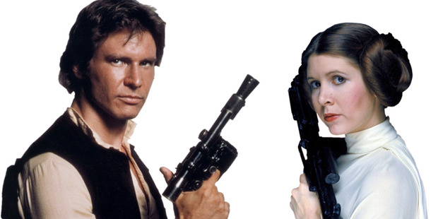 Fisher tried to cover her slip up by talking about Leia and Han's relationship but it was too late. Photo / Supplied