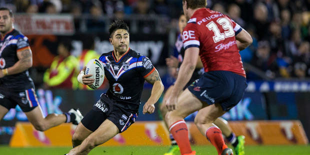 Shaun Johnson and the Warriors are expected to make the NRL top eight. Photo / Jason Oxenham