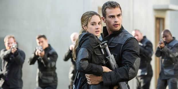 Shailene Woodley and Theo James in Divergent. Photo / supplied