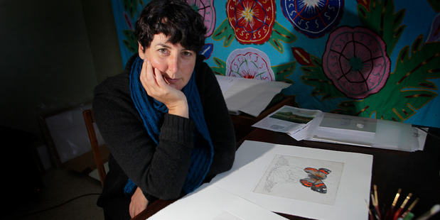 Margaret Silverwood, one of three Whanganui artists who were shortlisted for the Parkin Drawing Award.