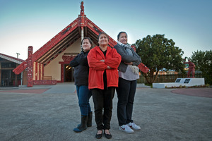 From left, Kirsty Willison, Sylvia Willison, and Teresa Nepia are behind Huria Marae's scheme to help the homeless.