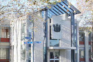 A lawyer was pelted with an egg and cheese sandwich at Wanganui District Courthouse.