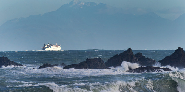 Loading Swells are expected to ease in the Cook Strait tomorrow. Photo / Mark Mitchell