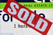 Land for sale sold sign, Dunedin. Photo / Ross Setford