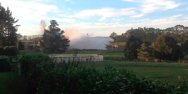 This recent blast at a Kerikeri quarry, that spooked horses in a nearby corral, has neighbours concerned over an application to extend the quarry's consent for another 14 years.