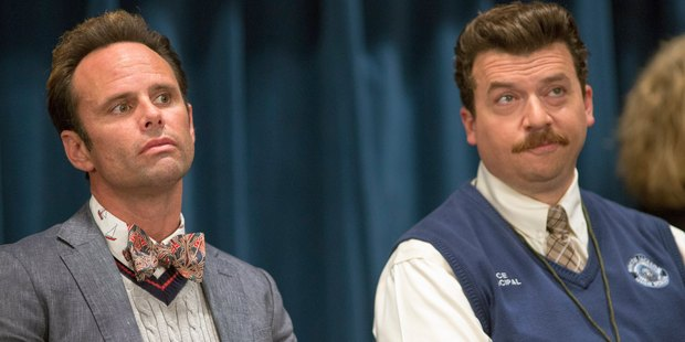 Danny McBride, left, as Neal Gamby and Walton Goggins as Lee Russell in Vice Principals.