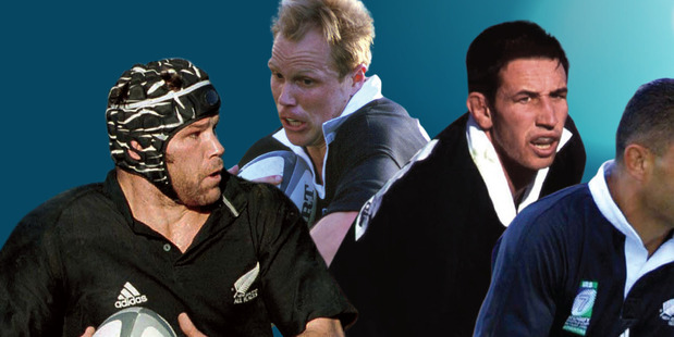 EXPERT INSIGHT: Tauranga Gala Dinner speakers in former All Blacks Josh Kronfeld, Jeff Wilson, Ian Jones and Eric Rush. PHOTO/FILE tpRugbyGala