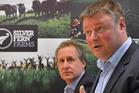 Silver Fern Farms chairman Rob Hewett (right) and chief executive Dean Hamilton. Photo / Otago Daily Times