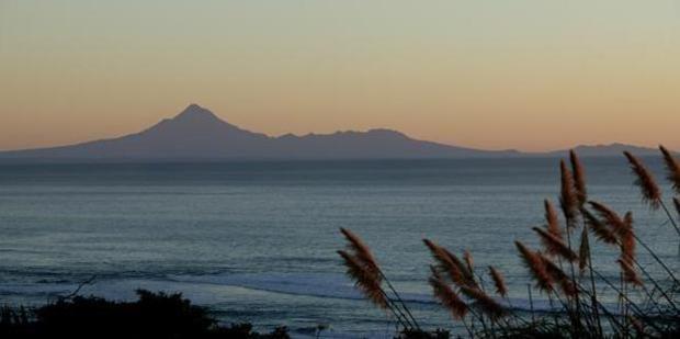Mt Taranaki in the horizon. Photo / Rob Tucker