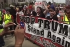 The first major Cleveland rally against presumptive Republican presidential nominee Donald Trump attracted several hundred people to a downtown Cleveland plaza.