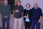 TOP TURN: Barry Allison, Nancy Page and Trevor Smith, shown here with sponsor Max Foster (far left), won the Patron's Triples tournament at the Far North RSA earlier this month. PICTURE/SUPPLIED