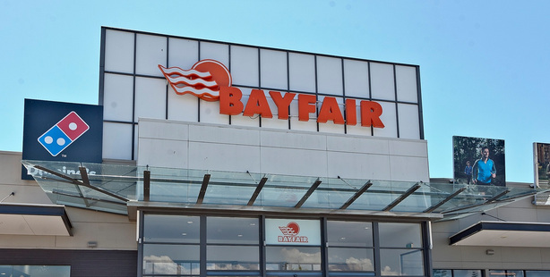 Police were called to Bayfair Shopping Centre yesterday after a guard noticed a small child had been left in a car for 40 minutes. Photo/file