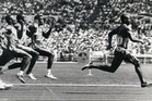 Canadian sprinter Ben Johnson winning the gold medal at the 1988 Seoul Olympics. He was later disgraced after a positive drug test. Photo / Paul Estcourt