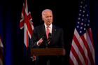 Vice President of the United States Joe Biden in New Zealand. Photo / Dean Purcell