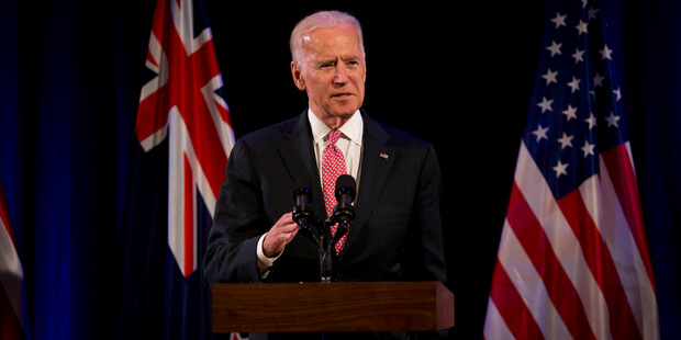 Loading Vice President of the United States Joe Biden in New Zealand. Photo / Dean Purcell