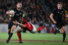 Aaron Cruden has Beauden Barrett hot in pursuit of the All Blacks No 10 jersey. Photo / Getty Images