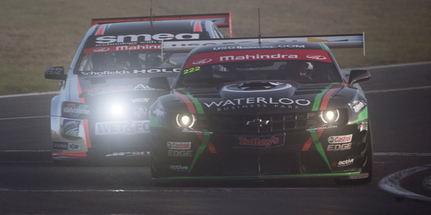 Tulloch Motorsport's John McIntyre and Simon Gilbertson in action at Taupo. Photo / John Cowpland