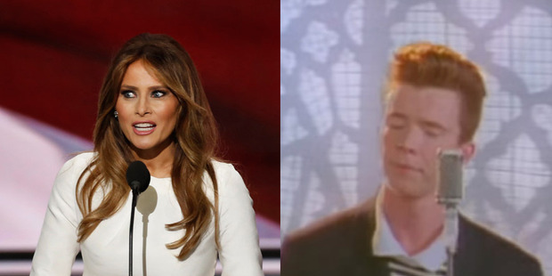 Melania Trump's speech has been one of the more memorable moments of the Republican National Convention. Photo / Getty/YouTube