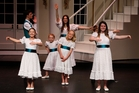 One of the two groups of von Trapp children performing in WTC's production of The Sound of Music.