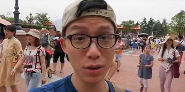 Disney Dwayne is a vlogger who filmed his experience at the newly-opened Disneyland Shanghai. Photo / Disney Dwayne, YouTube