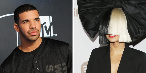 Drake and Sia might be collaborating soon. Photos / AP, Getty Images