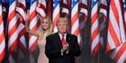 Daughter and father Ivanka and Donald Trump share centre stage momentarily on a night of drama for US politics. Photo / AP