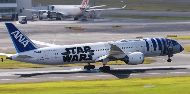 ANA launched this R2D2-themed jet last year. Photo / iStock